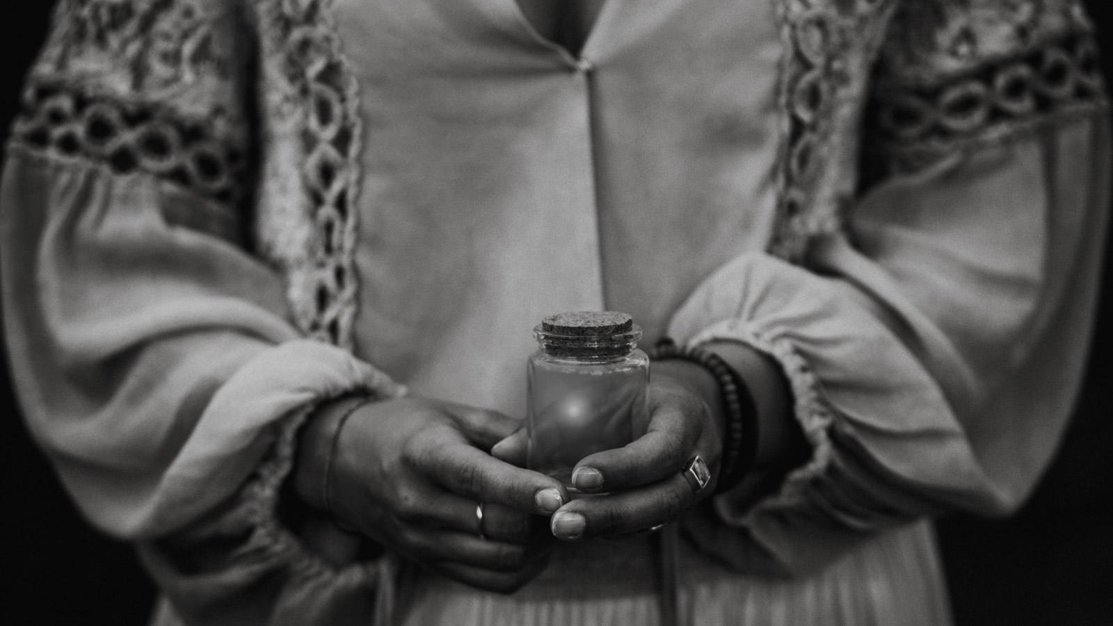 jar with firefly